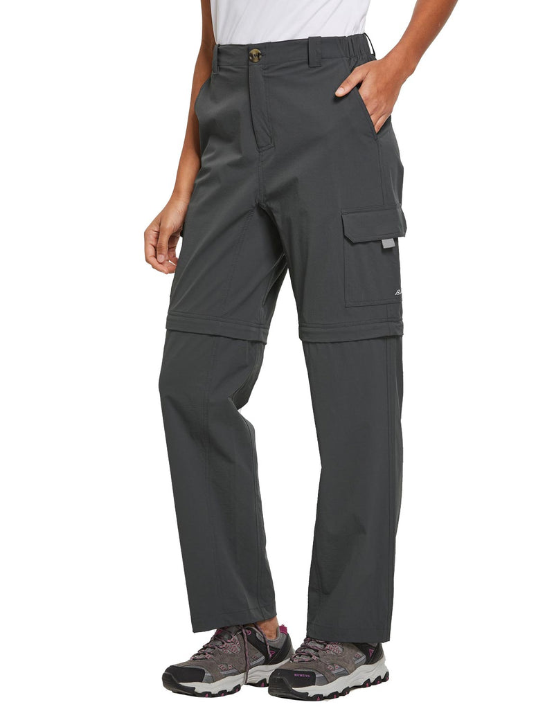Baleaf Womens UPF 50+ Quick Dry Convertible Hiking & Outdoor Pants Deep Gray side