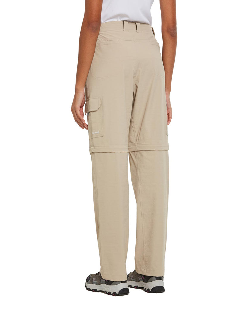 Baleaf Womens UPF 50+ Quick Dry Convertible Hiking & Outdoor Pants Khaki side
