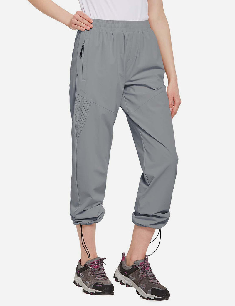 Baleaf Womens UPF50+ Lightweight Mesh Paneled Convertibel Outdoor Pants Black side