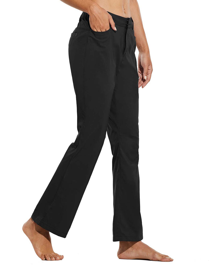 Baleaf Womens UPF 50+ Water Resistant Bootcut Pocketed Outdoor Pants Black Side