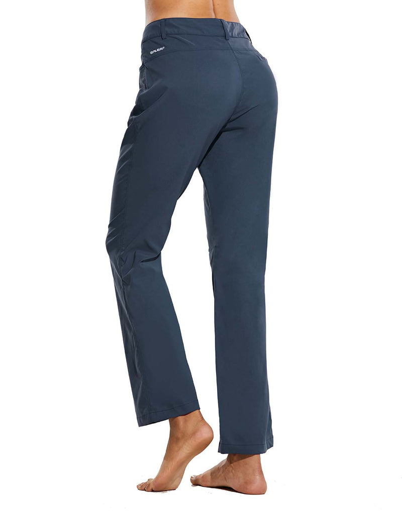 Baleaf Womens UPF 50+ Water Resistant Bootcut Pocketed Outdoor Pants Blue Back
