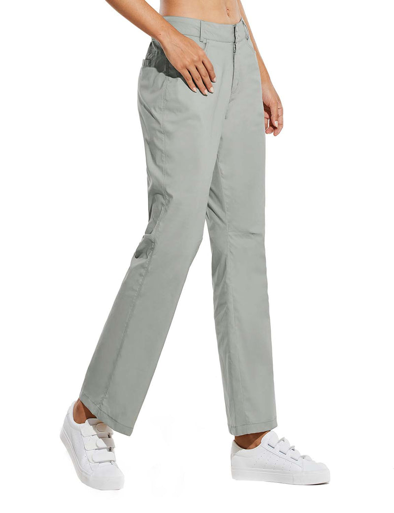 Baleaf Womens UPF 50+ Water Resistant Bootcut Pocketed Outdoor Pants Gray Side