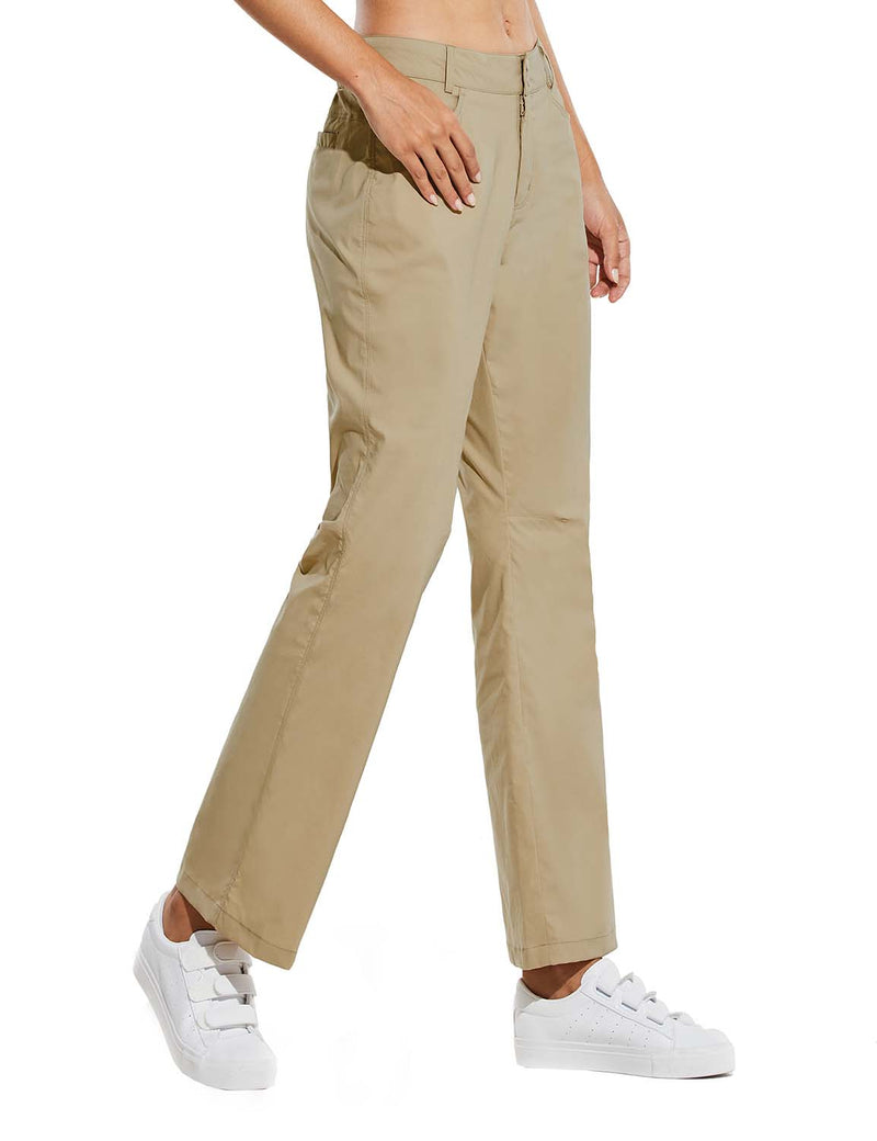 Baleaf Womens UPF 50+ Water Resistant Bootcut Pocketed Outdoor Pants Khaki Side