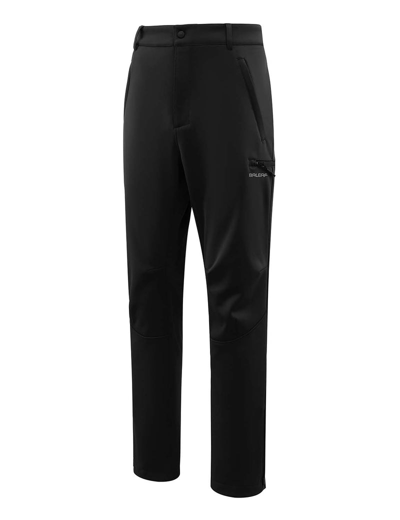 Baleaf Mens Thermal Wind & Waterproof Durable Pocketed Outdoor Pants Black Side