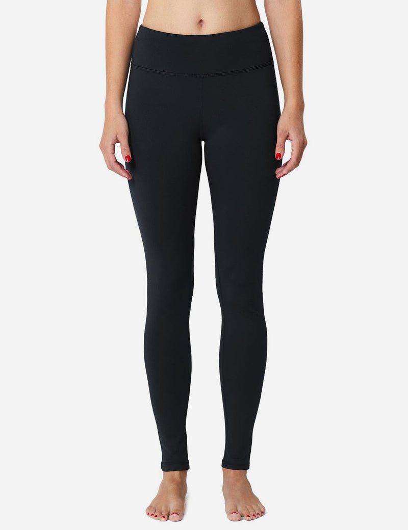 Baleaf Sports High-Rise Fleece Lined Leggings Black back