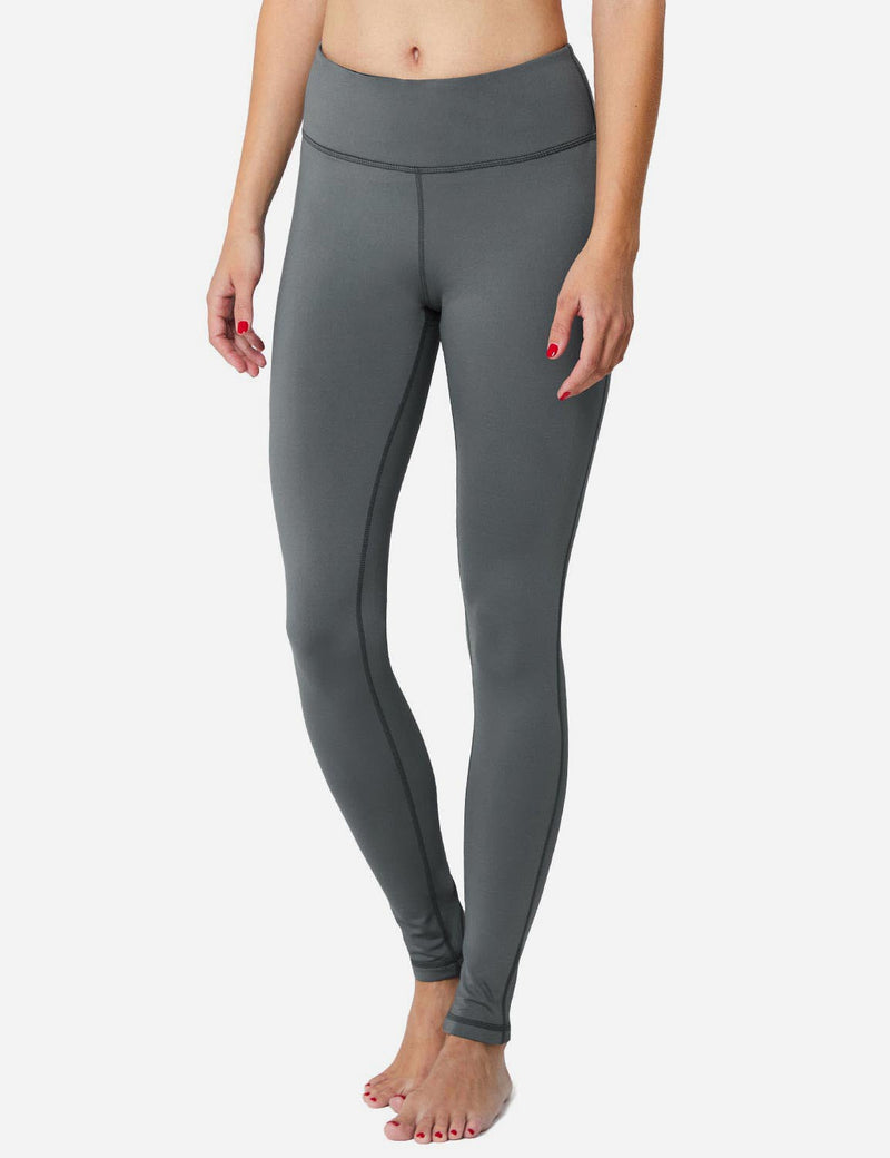 Baleaf Sports High-Rise Fleece Lined Leggings Gray Side