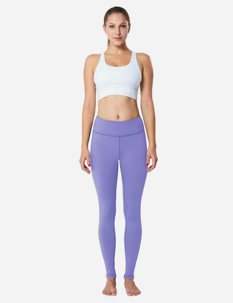 Baleaf Sports High-Rise Fleece Lined Leggings Paisley Purple back