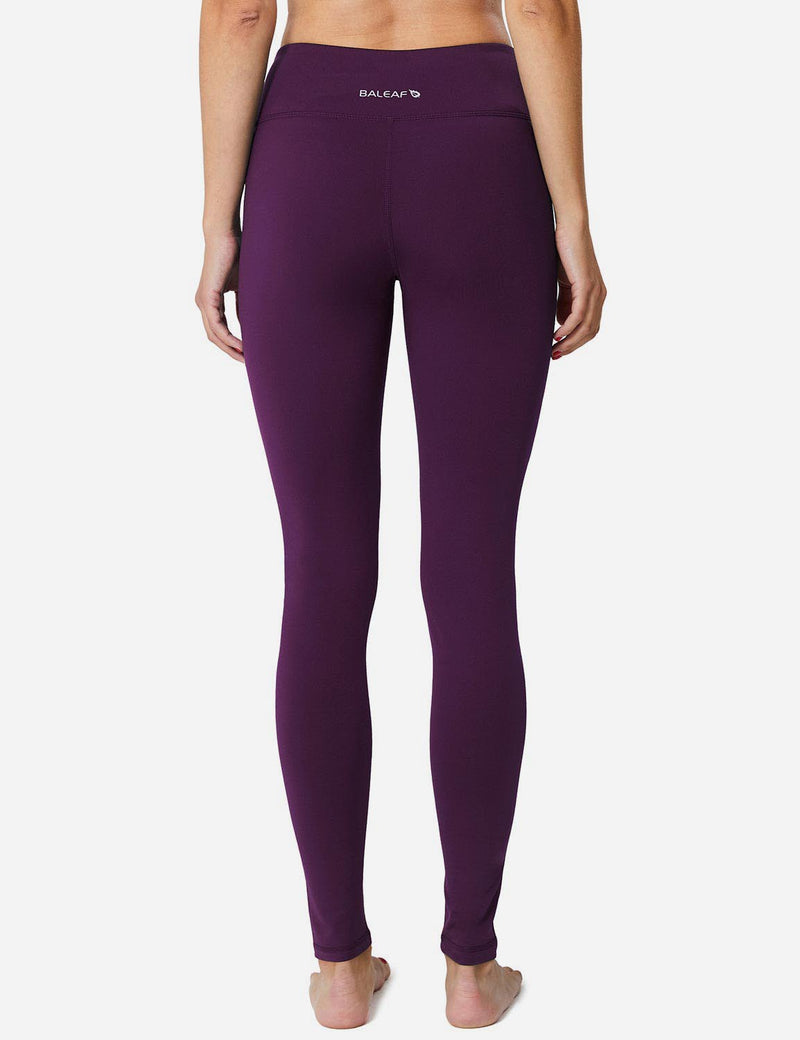 Baleaf Womens Mid-Rise Fleece Lined Basic Yoga & Workout Leggings purple details