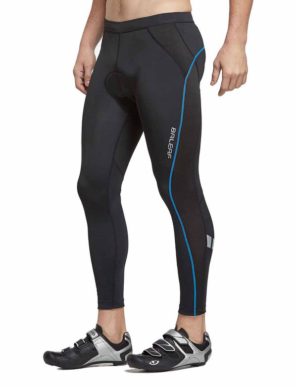 "Baleaf Men UPF 50+ 4D Padded 25"" MTB Road Bike Tights BlackBlue side"