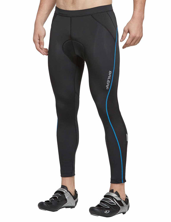 "Baleaf Men UPF 50+ 4D Padded 25"" MTB Road Bike Tights BlackBlue front"