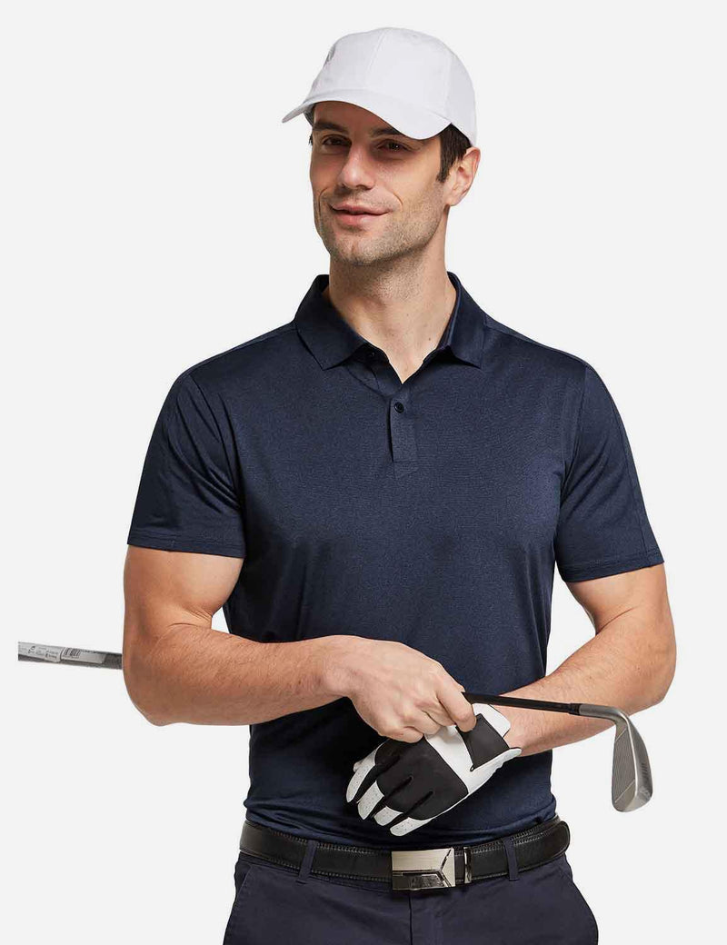 Baleaf mens Baleaf Men's UPF 50+ Golf Polo Short Sleeve Shirts Gray full