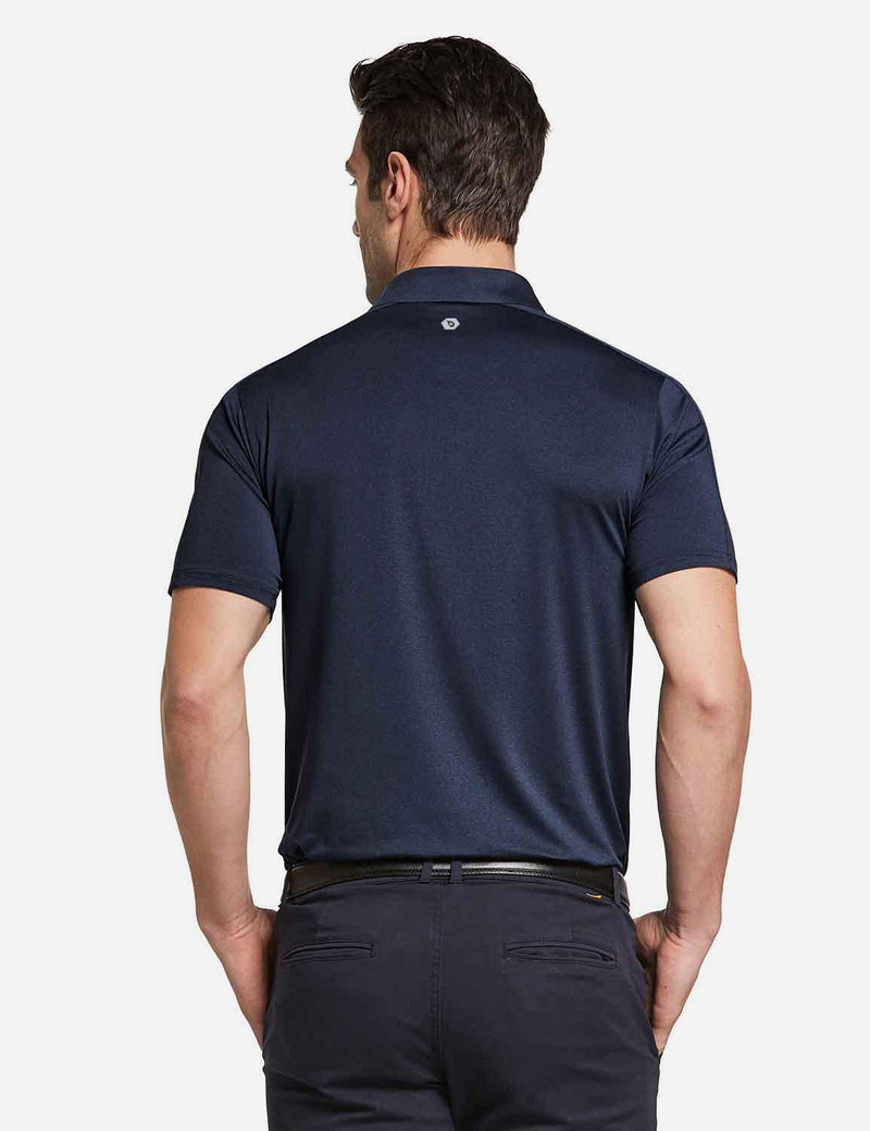 Baleaf mens Baleaf Men's UPF 50+ Golf Polo Short Sleeve Shirts Gray Back