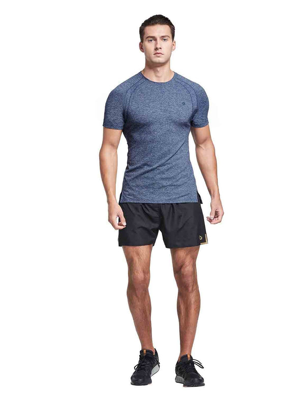 Quick Dry Workout Short Sleeve T-Shirt Blue full