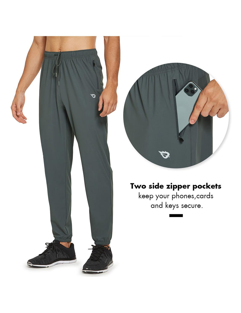 Baleaf Mens Lightweight Nylon Quick Dry Cuffed & Pocketed Weekend Pants Gray Details