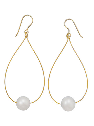 Cultured Freshwater Pearl Earrings with 14k Yellow Gold Ear Wires