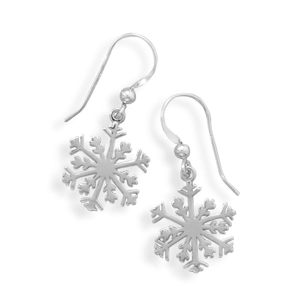 Lacy Snowflake Sterling Silver Earrings