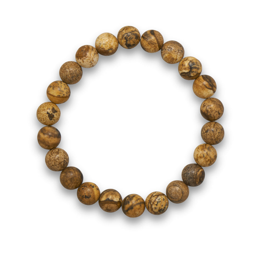 AzureBella Jewelry Picture Jasper Bead Stretch Bracelet