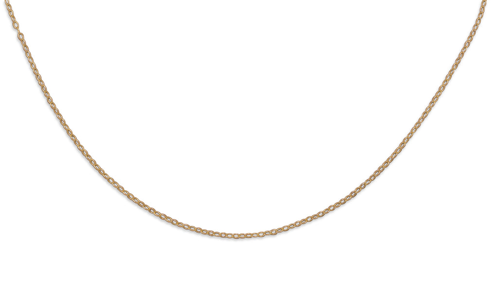 14K Yellow Gold-filled Cable Chain Adjustable Necklace Made in the USA