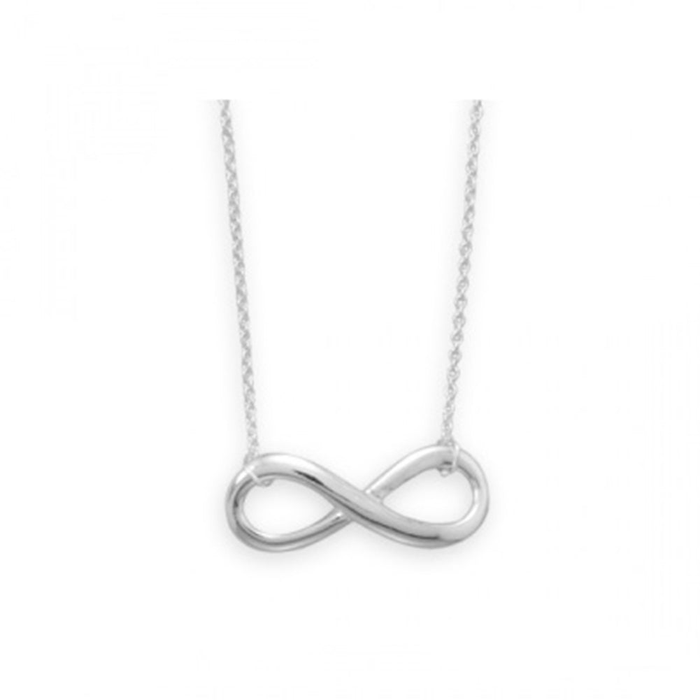 Infinity Necklace Sterling Silver Adjustable Length