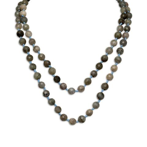 Labradorite Necklace with Faceted Beads Endless Style No Clasp
