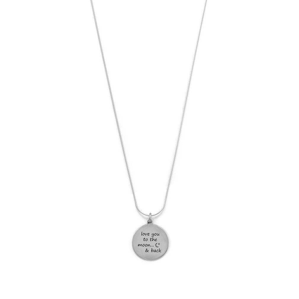 Sterling Silver Love You to the Moon and Back Necklace