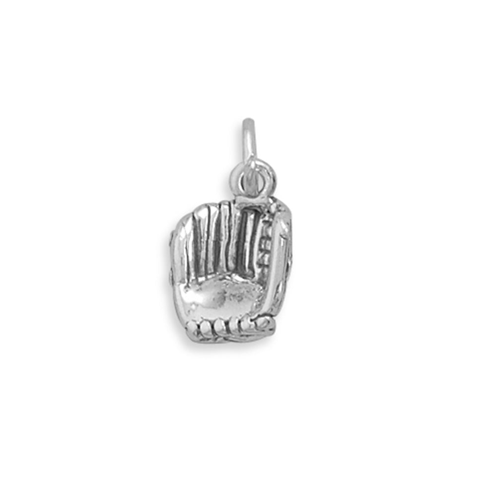 Baseball Mitt Charm Sterling Silver, Made in the USA