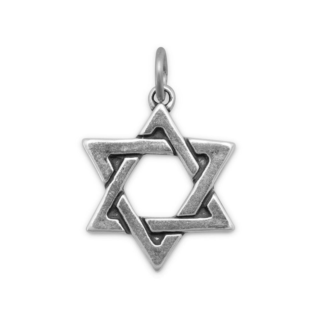 Star of David Charm Pendant Sterling Silver, Made in the USA