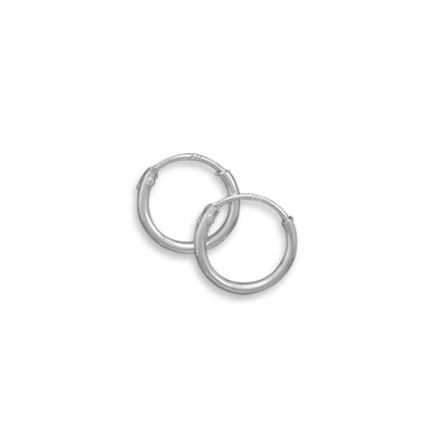 Endless Hoop Earrings 10mm Sterling Silver