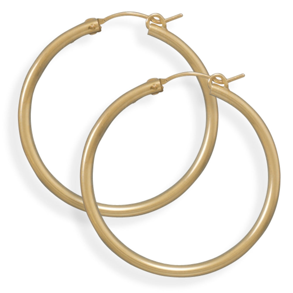 2x34mm Hoops Hoop Earrings 12k Yellow Gold-filled Click Close - Made in the USA