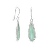 Ancient Roman Glass Earrings Raindrop Shape Sterling Silver
