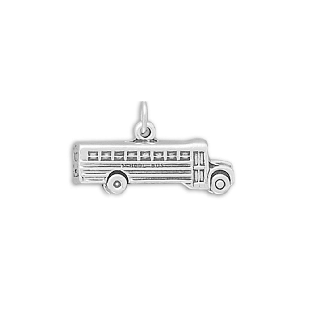 School Bus Sterling Silver Charm, Made in the USA