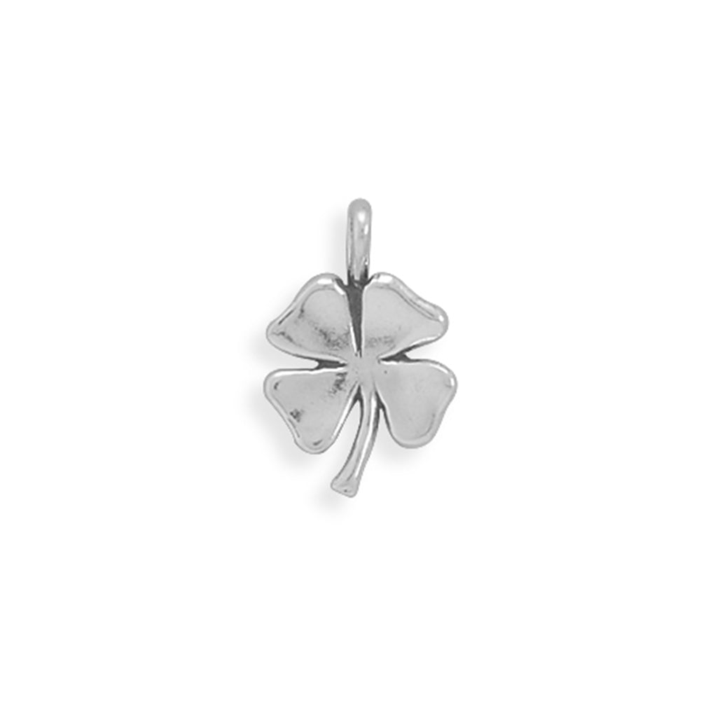 4 Leaf Clover Shamrock Charm Sterling Silver, Made in the USA