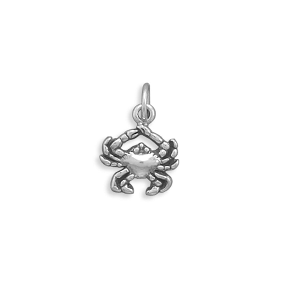Crab Charm Sterling Silver