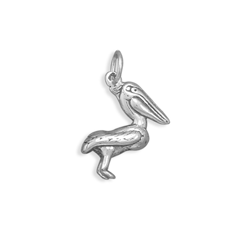 Pelican Charm Sterling Silver