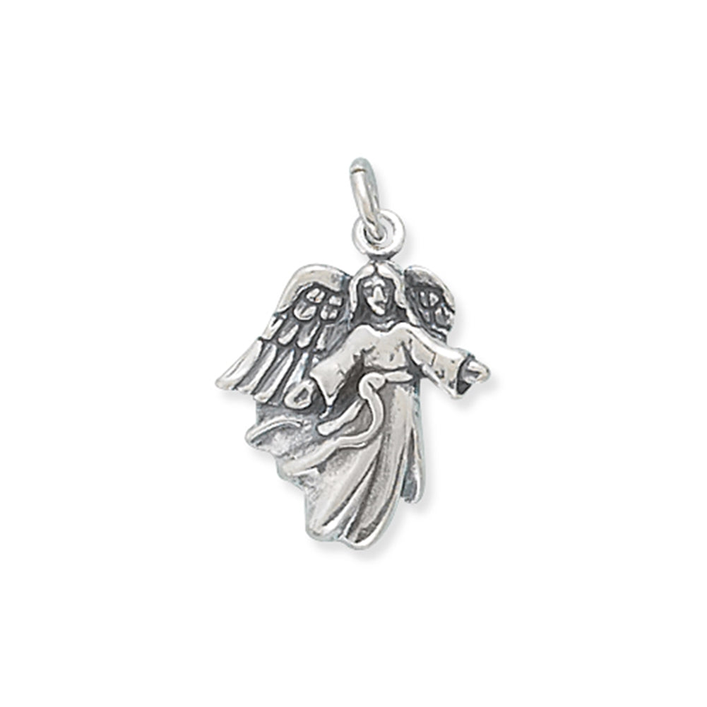 Angel with Open Arms Sterling Silver Charm