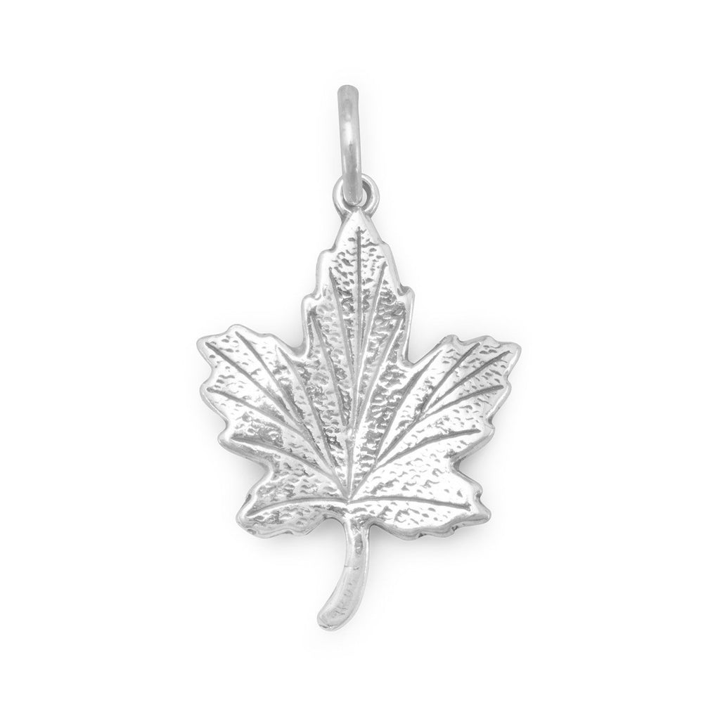 Maple Leaf Charm Sterling Silver - Made in the USA
