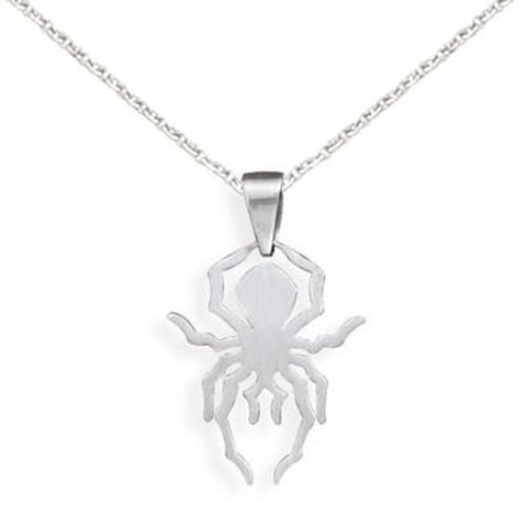 Spider Pendant 316lL Surgical Stainless Steel Hypoallergenic, with Chain