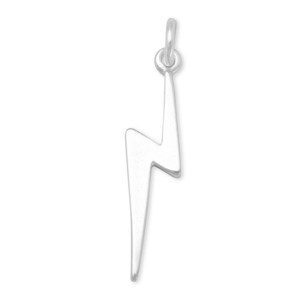 Lightning Bolt Charm Sterling Silver