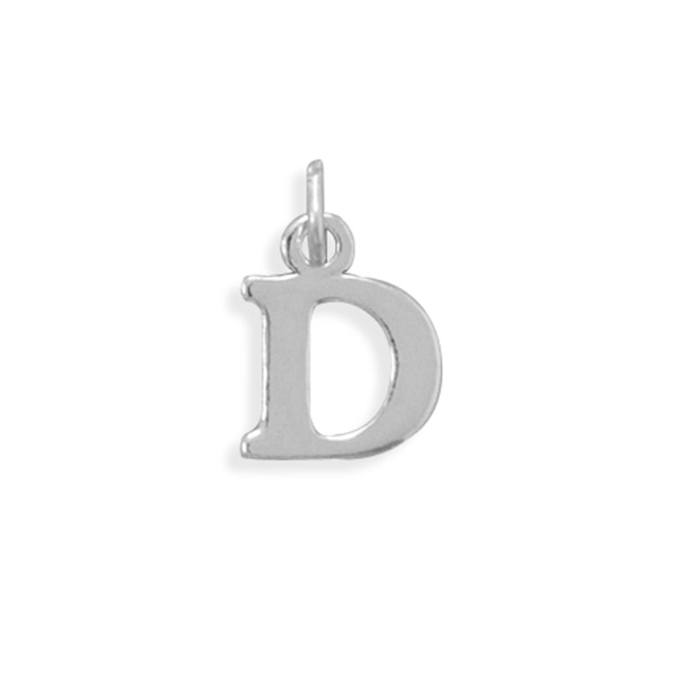 Alphabet Letter D Charm Sterling Silver - Made in the USA