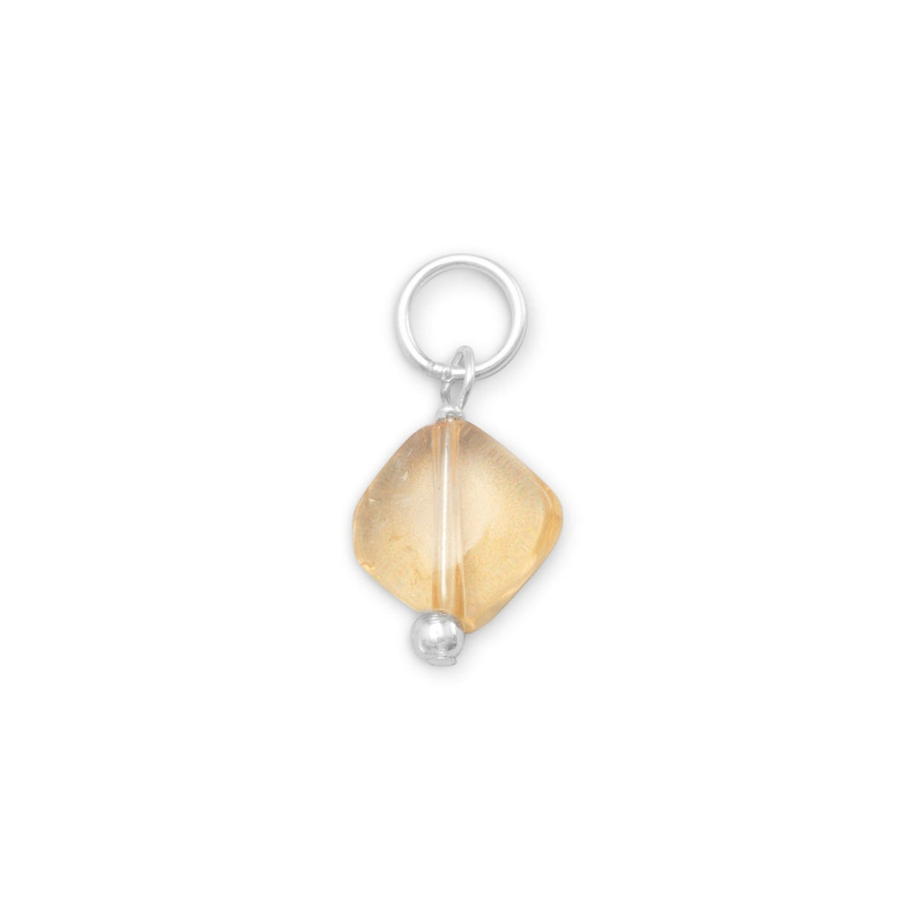Sterling Silver Yellow Citrine November Bead Charm