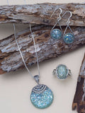 Ancient Roman Glass Rope Frame Earrings Sterling Silver