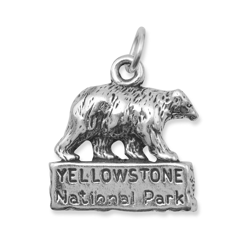 Yellowstone National Park Charm Sterling Silver