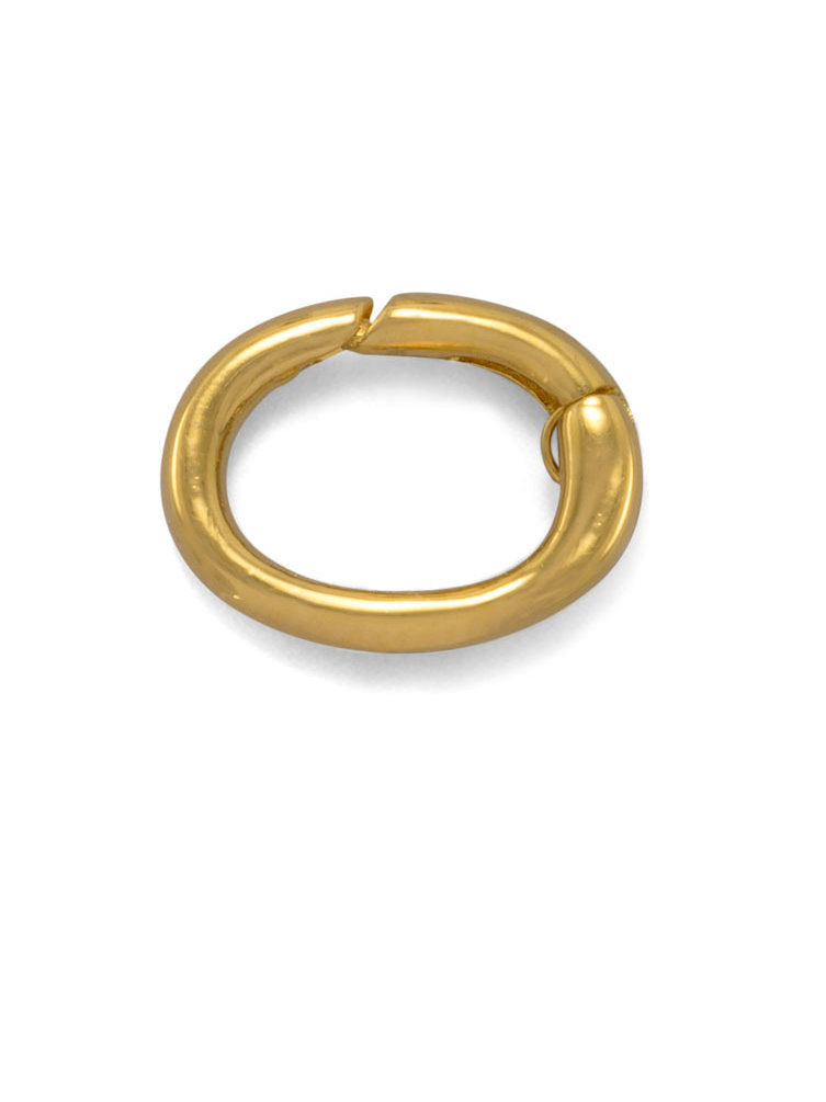 Adapter Ring for Charm and Bolo Bracelets Gold-plated Sterling Silver