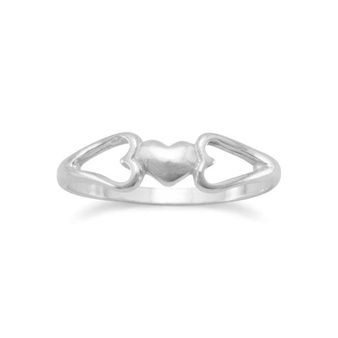 Small Heart Ring Childs Teens Sterling Silver