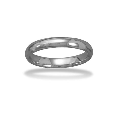Tungsten Carbide 4mm Plain Band Ring Mens Womens and Half Sizes