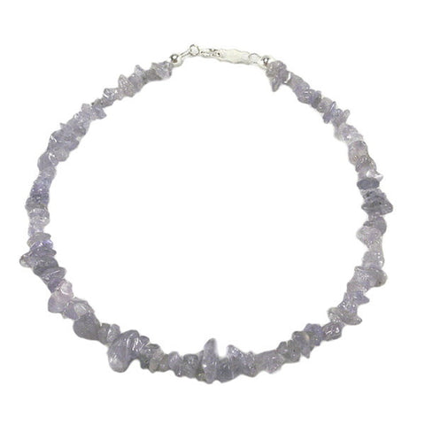 Tanzanite Gem Chip Bracelet Sterling Silver Clasp