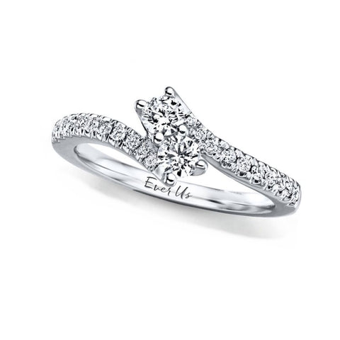 14k White Gold Ever Us (TM) Ring 1/2 CTW Diamond Engagement Ring