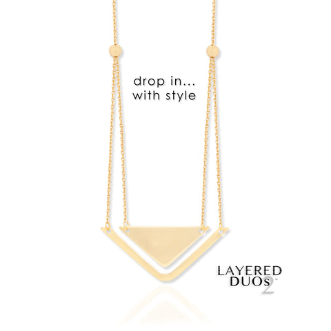 e300ecd6879bc 14k Yellow Gold Word Infinity Symbol and Sideways Cross Necklace - Layered  Duos