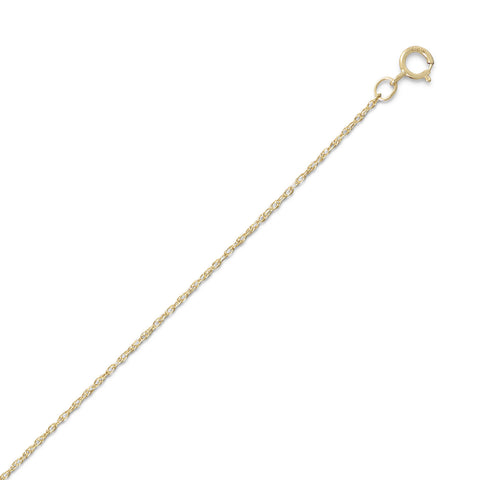 Rope Chain Necklace 14k Yellow Gold-filled 1.1mm Width - Made in the USA