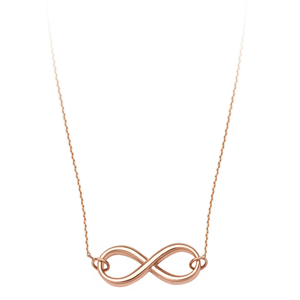 14k Rose Gold Infinity Necklace Adjustable Length East2West